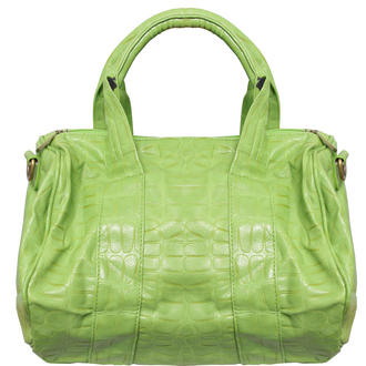 View Item Acid Green Faux Animal Skin Handbag